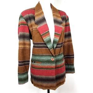 Vintage Desert Aztec Stripe Boho Blazer